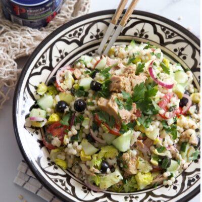 Parelcouscous salade met Princes tonijn