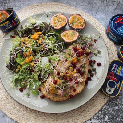 Salade met tonijn en passievrucht